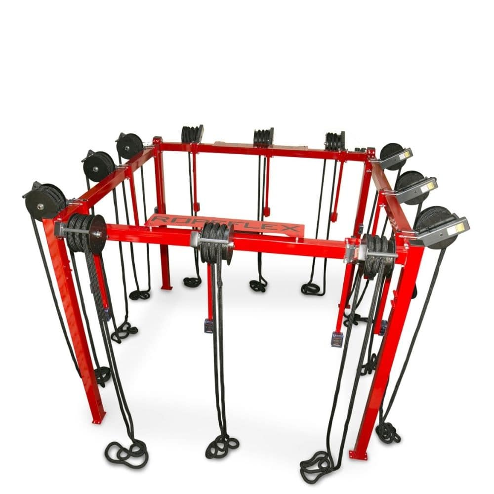 Ropeflex RX8100 ROPERIG Spartan Rope Training Rig 3D View