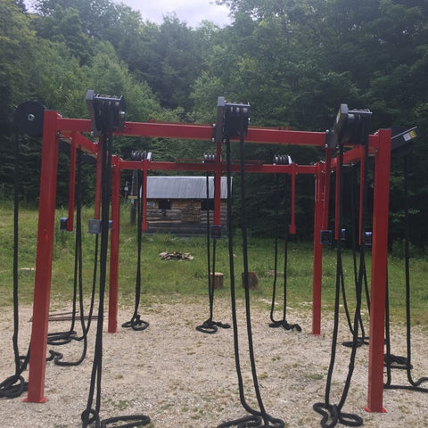 Image of Ropeflex RX8100 ROPERIG Spartan Rope Training Rig Outdoor