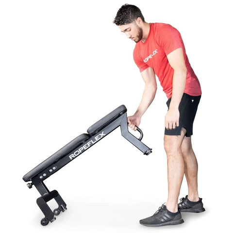 Ropeflex RXB2 Flat Bench Exercise Figure 1
