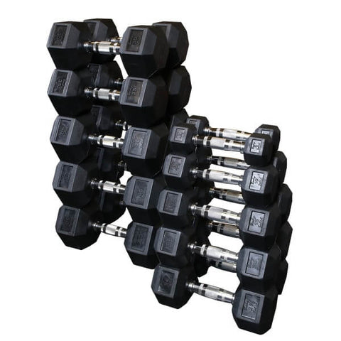 Body-Solid Rubber Hex Dumbbell Sets SDRS