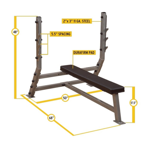 Image of Body-Solid ProClub SFB349G Flat Olympic Bench Dimensions