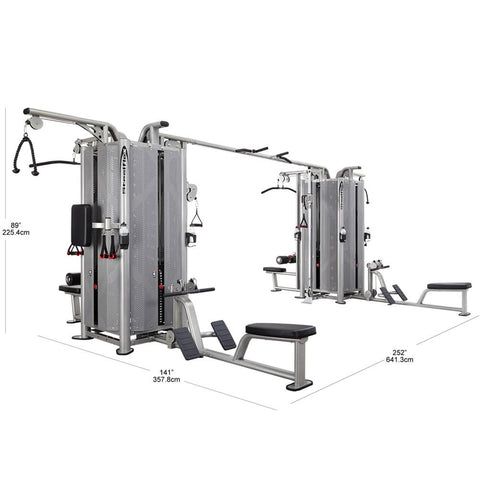 Image of Steelflex Commercial Jungle Gym JG8000S Dimension