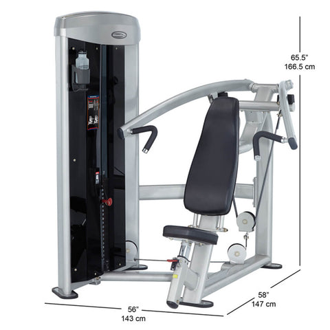 Steelflex MIP-1400 Mega Power Incline Press Dimension