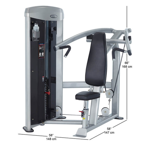 Image of Steelflex MSP-800 Mega Power Shoulder Press Dimension