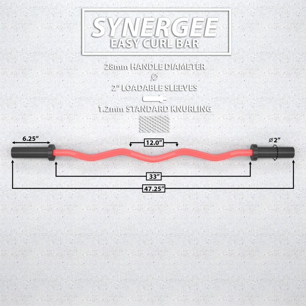 Synergee EZ Curl Bars Dimension