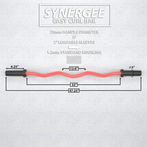 Image of Synergee EZ Curl Bars Dimension
