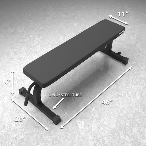 Synergee Flat Bench Dimensional Illustration