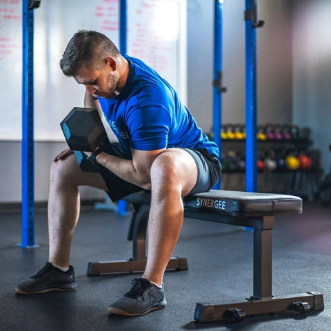 Synergee Flat Bench Sitting