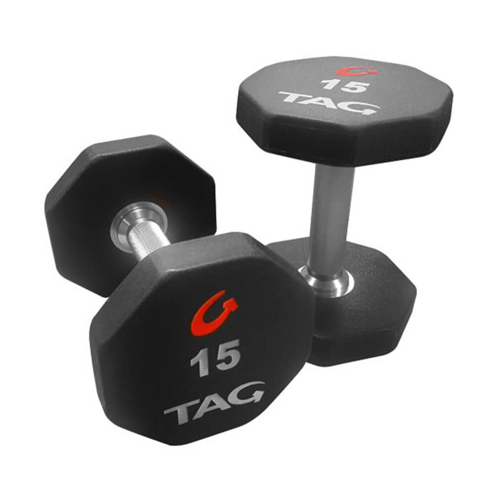 TAG 8-Sided Premium Ultrathane Dumbbells Group