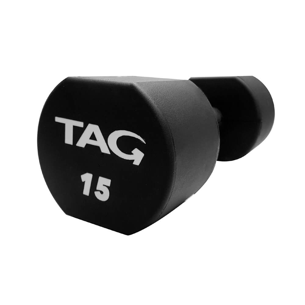 TAG Micro Poly-Urethane Dumbbells With Contoured Handles 3D View