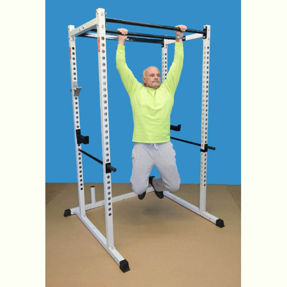TDS-92680 Dual Pull Up Bar Power Rack Front View