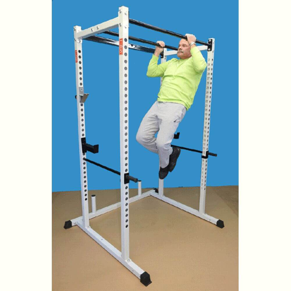 TDS-92680 Dual Pull Up Bar Power Rack Side View