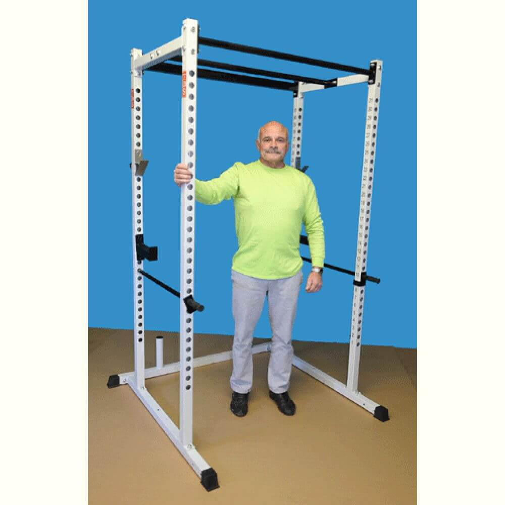 TDS-92680 Dual Pull Up Bar Power Rack Standing
