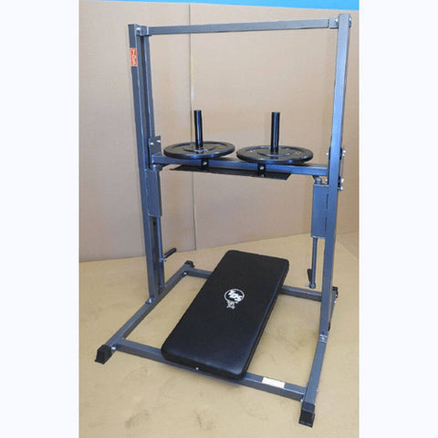 Image of TDS C-92070-O Premier Vertical Leg Press 3D View With Plates