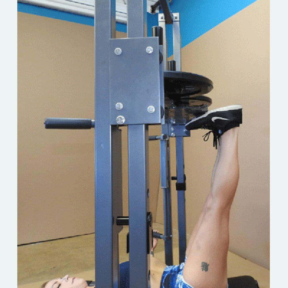 TDS C-92070-O Premier Vertical Leg Press Close Up  Tip Toe Down