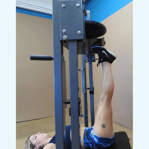 Image of TDS C-92070-O Premier Vertical Leg Press Close Up Tip Toe Up