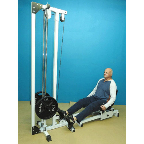 Image of TDS C-92075-W Horizontal Leg Press Front Side View