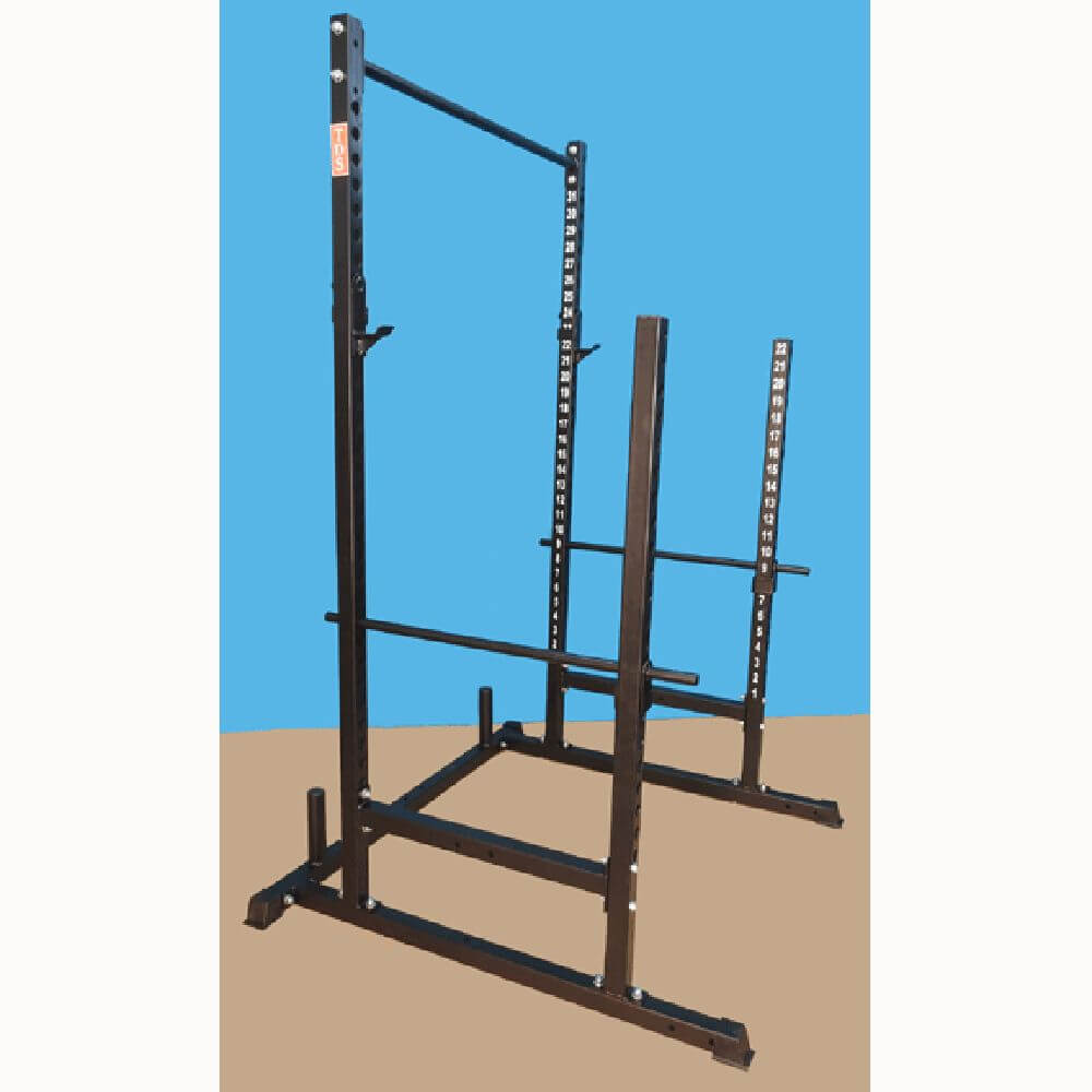 TDS H-92550B Power, Squat & Open Rack Station (Black) 3D View