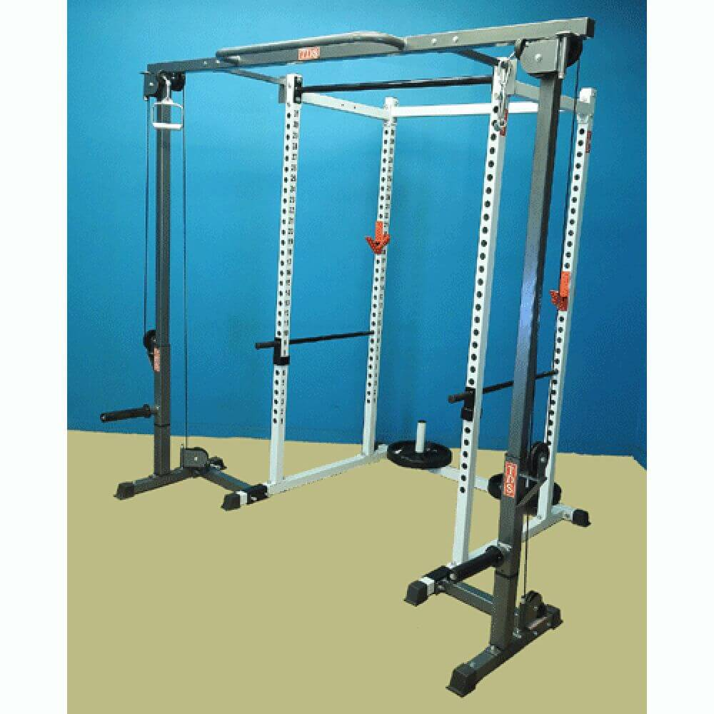 TDS H-92570GYM Power Rack with Cable Crossover 3D View