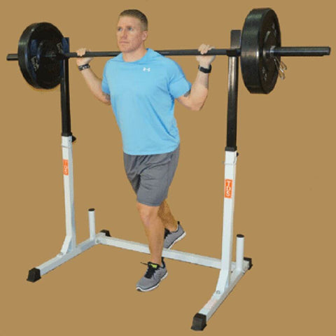 TDS H-93132 Squat Rack With Weights Standing