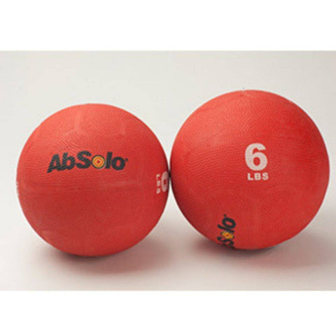 The Abs Company 6 lbs Red Medicine Ball - Set 0f Two Front View