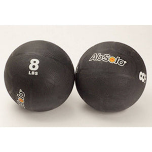 The Abs Company 8 lbs Black Medicine Ball - Set 0f Two Front view