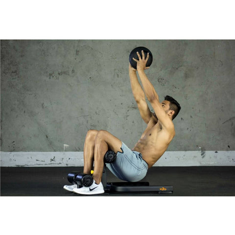 The Abs Company X3S Elite Sit Up With Medicine Ball