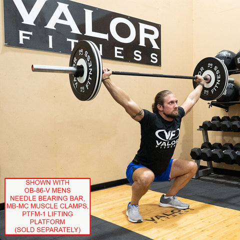 Image of Valor Fitness Bumper Plate Pro BPP 10 lbs With Accessories