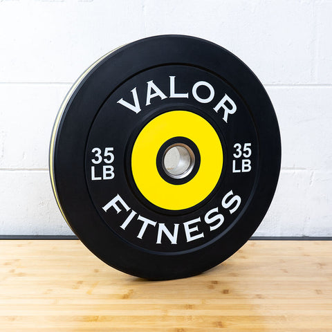 Valor Fitness Bumper Plate Pro BPP 35 lbs 3D View