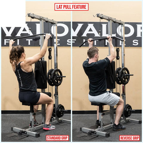 Valor Fitness Lat Pull DownPLGLow Row CB-12 Lat Pull Feature