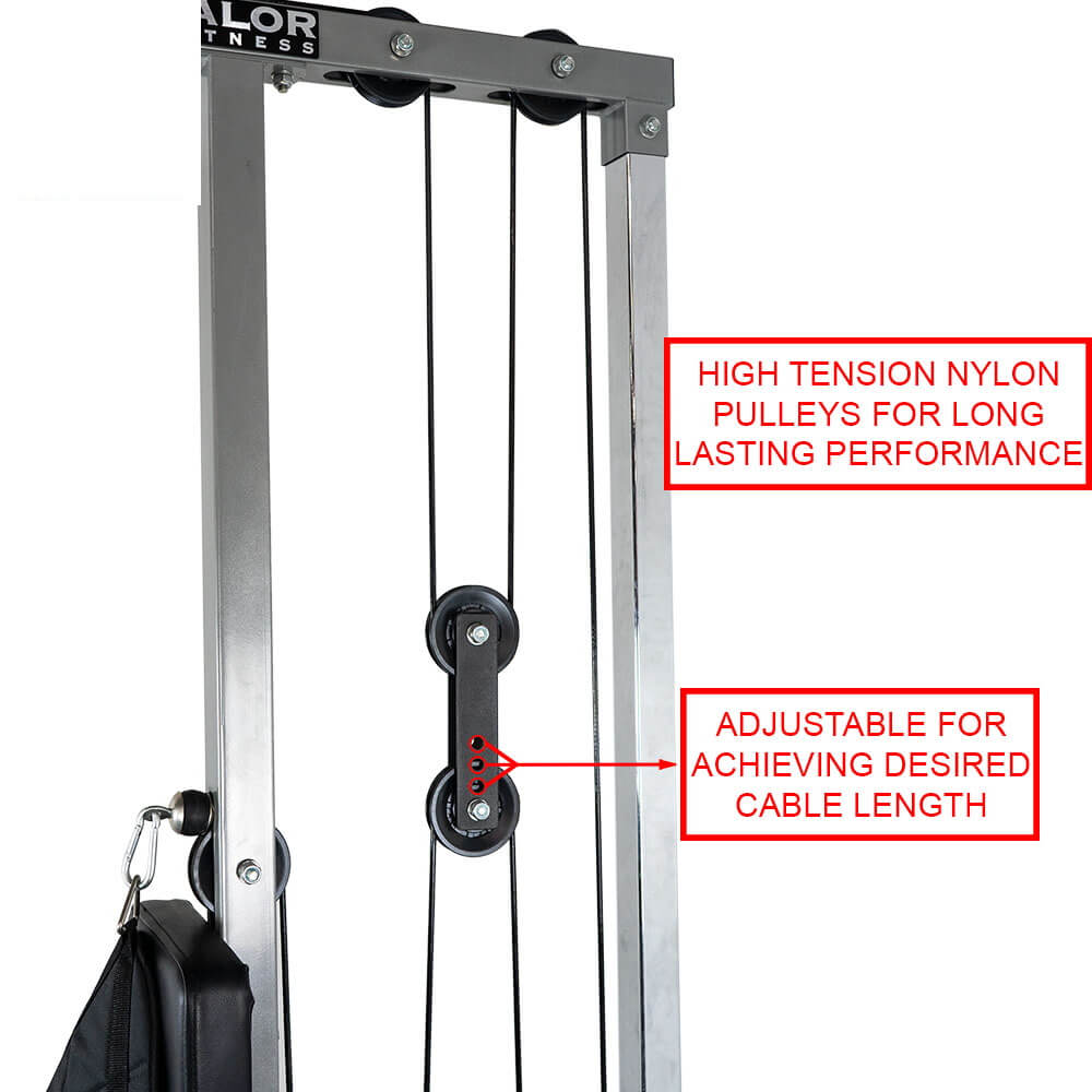 Valor Fitness Lat Pull DownPLGLow Row CB-12 Nylon Pulley