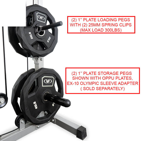 Valor Fitness Lat Pull DownPLGLow Row CB-12 Pegs