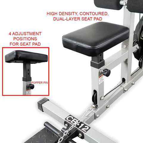 Valor Fitness Lat Pull DownPLGLow Row CB-12 Seat Pad Adjustment