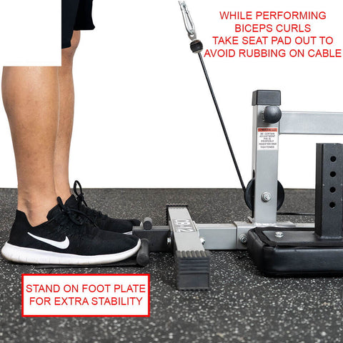 Valor Fitness Lat Pull DownPLGLow Row CB-12 Stand On Foot Plate