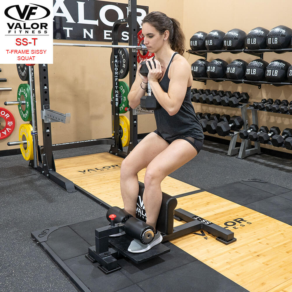 Valor Fitness Sissy Squat Machine Bench SS-T With DB