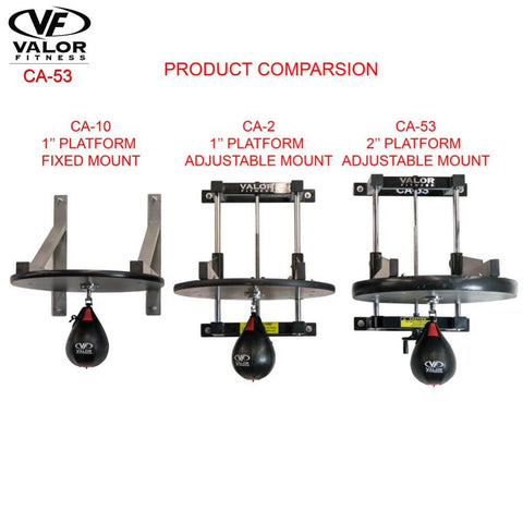 Image of Valor Fitness 2_ Speed Bag Platform CA-53 Comparison