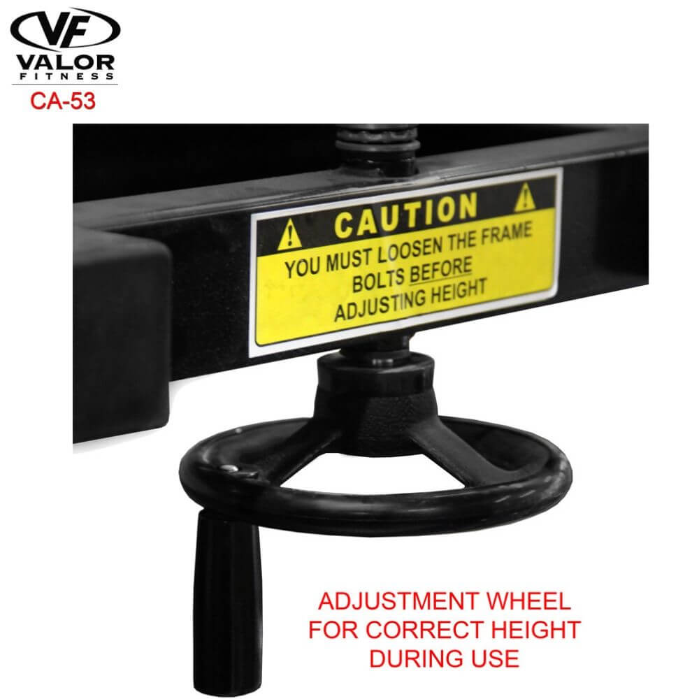 Valor Fitness 2_ Speed Bag Platform CA-53 Wheel Adjustment