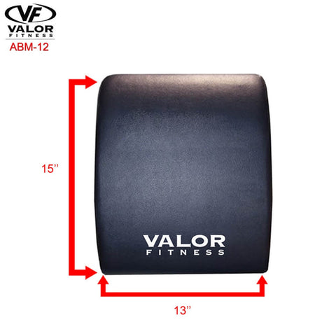 Valor Fitness ABM-12 Ab Mat Top View Dimension