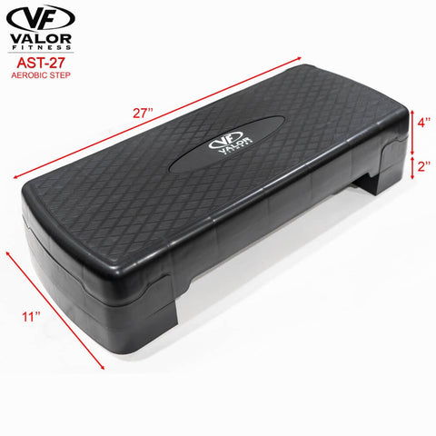 Image of Valor Fitness AST-27 Aerobic Step Dimensions