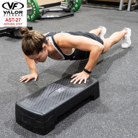 Image of Valor Fitness AST-27 Aerobic Step One Hand Push Up