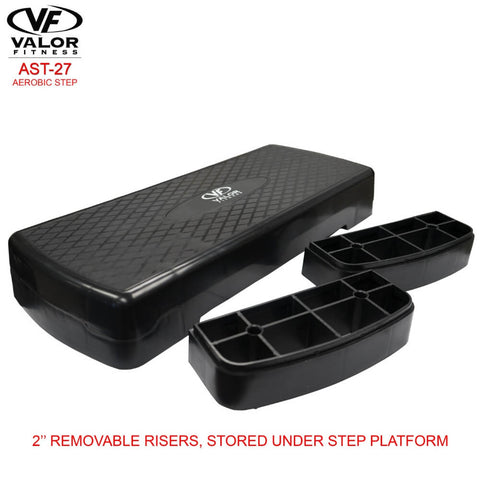 Image of Valor Fitness AST-27 Aerobic Step Risers