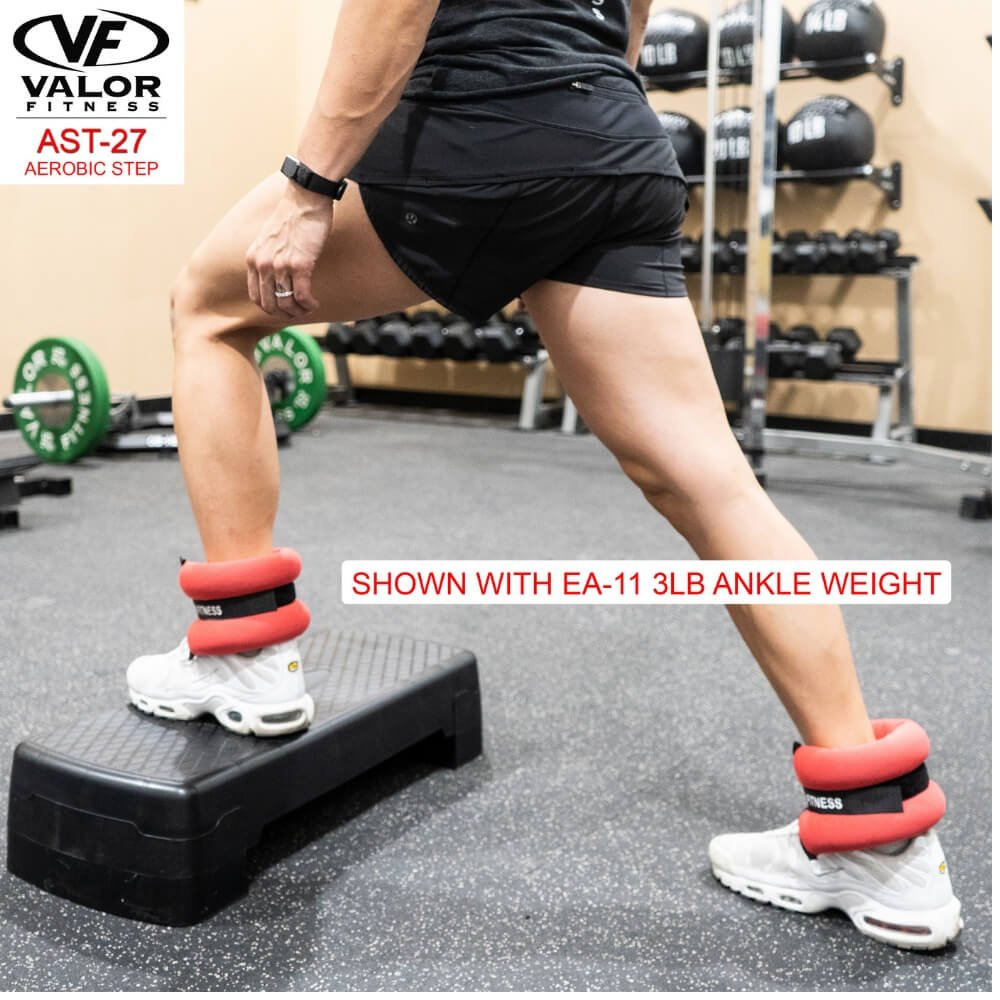 Valor Fitness AST-27 Aerobic Step With Ankle Weight