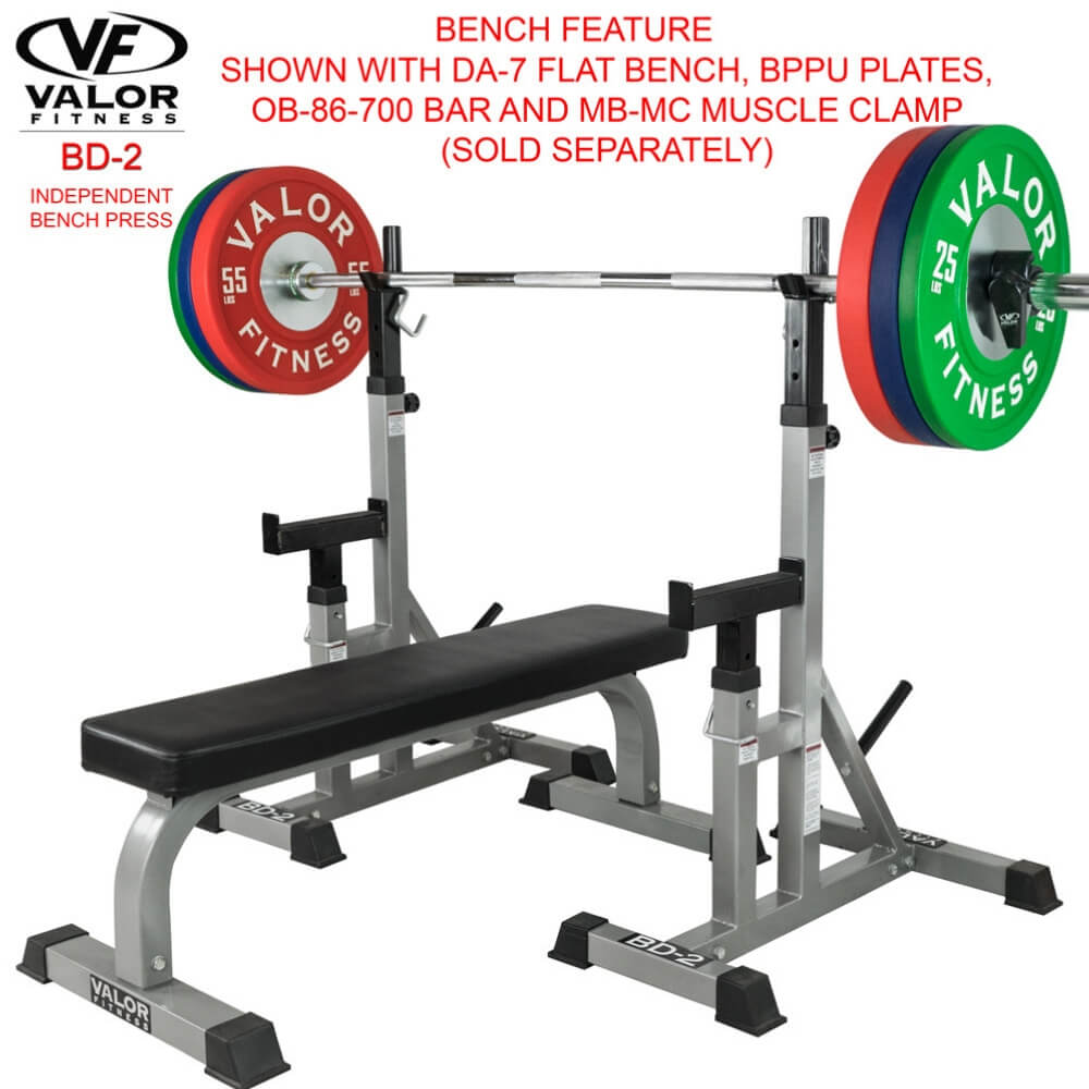 Valor Fitness BD-2 Independent Bench Press Stands Features