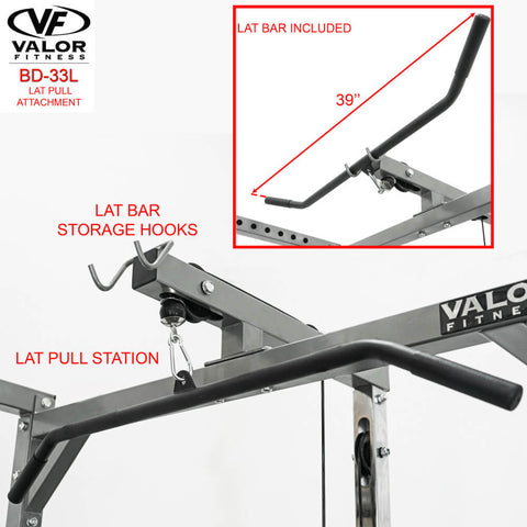 Valor Fitness BD-33L Lat Pull for BD-33 Lat Bar