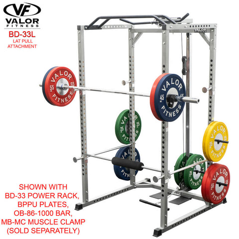Valor Fitness BD-33L Lat Pull for BD-33 Power Rack