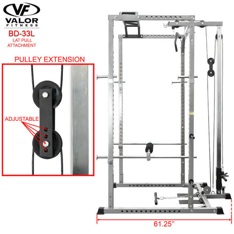 Valor Fitness BD-33L Lat Pull for BD-33 Pulley Extension