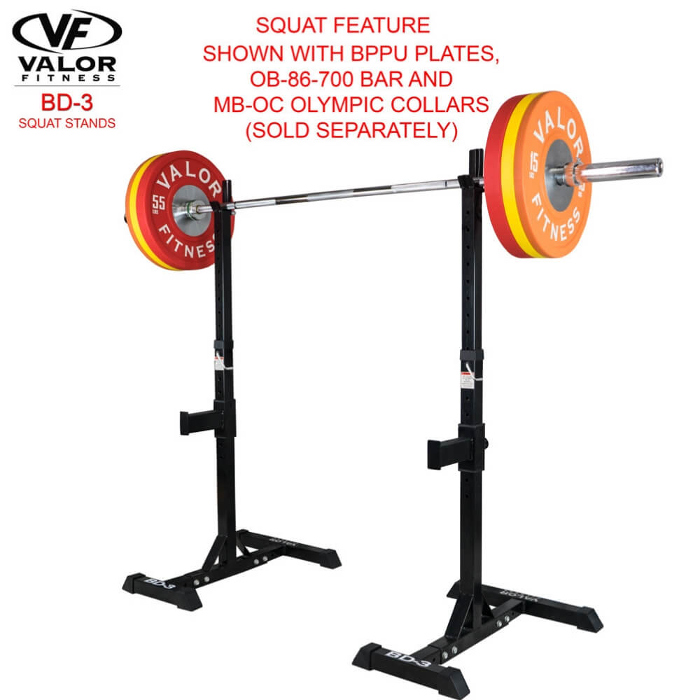 Valor Fitness BD-3 Squat Stands Squat Feature