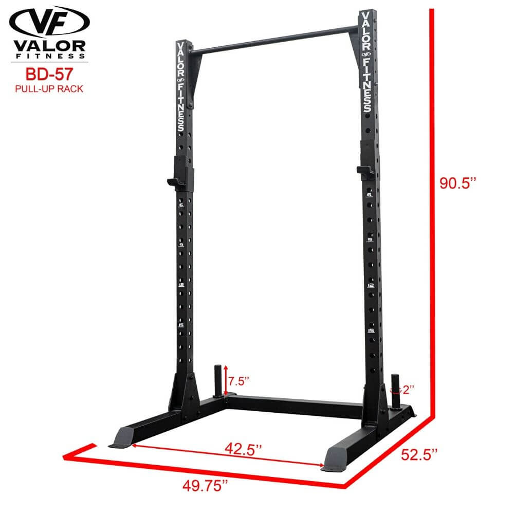 Valor Fitness BD-57 Half Rack with Pull Up Bar 3D View