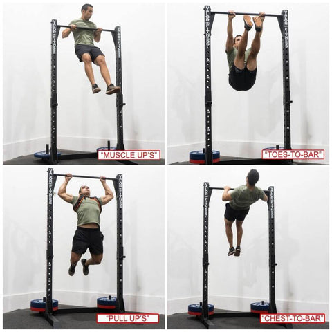 Image of Valor Fitness BD-57 Half Rack with Pull Up Bar Exercises