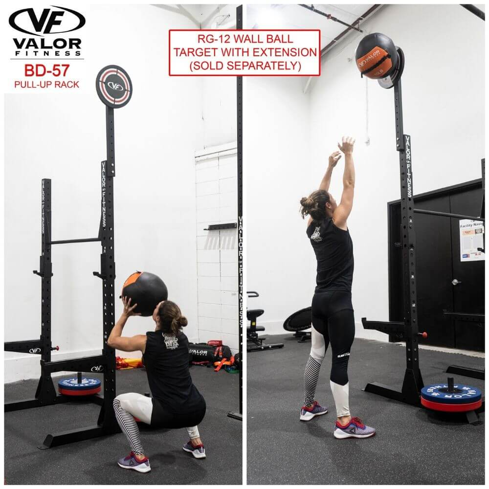 Valor Fitness BD-57 Half Rack with Pull Up Bar Wall Ball